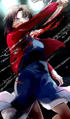 Shiki Ryougi【Kara no Kyoukai】 Anime Nerd, Manga Anime, Fantasy Characters, Female Characters, Fate Assassin, Kara No Kyoukai, Type Moon Anime, Monogatari Series, Fate Anime Series