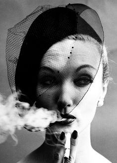 William Klein, Smoke & Veil, Paris (Vogue), 1958