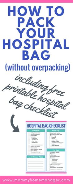 How to Pack Your Hospital Bag (Without Overpacking Getting ready for baby is exciting and overwhelming! Use this simple hospital bag checklist to make packing for labor ad delivery simple. Packing Hospital Bag, Hospital Bag Checklist, Getting Ready For Baby, Preparing For Baby, Pregnancy Tips, Mom Blogs, Parenting Advice, New Moms, Breastfeeding