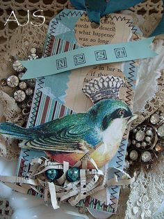 Birds just say something to me I love to use them in mix media journaling