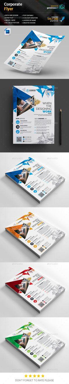 Flyers Design Template PSD