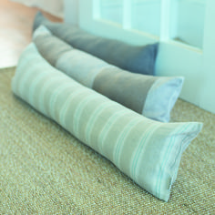 Our beautiful new #draught excluders in Duck Egg Galway Linen will keep your house cosy this winter.