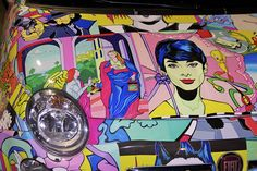 Detail of Pop art covered Fiat 500 by Italy Chronicles Photos, via Flickr