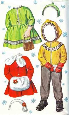 vintage paper dolls and sewing cards - free printables