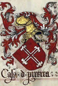 Livro do Armeiro-Mor (1509). [x] Armas de Pereira chefe.
