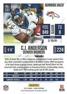 2015 Score #111 C.J. Anderson Back