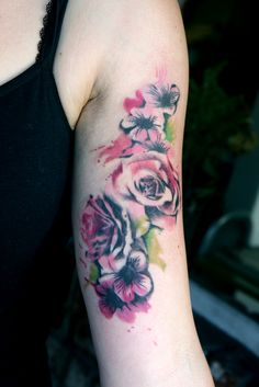 watercolor roses red - Google Search