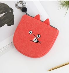 MISS OH/ lovely  Pouch Bag fax card pouch  orange color #missoh