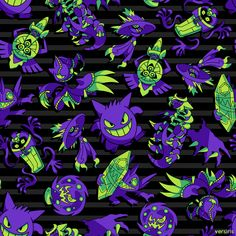 Halloween Pokemon T-shirt Designs made by Versiris Kalos Pokemon, Gengar Pokemon, Ghost Pokemon, Cool Pokemon Wallpapers, Cute Pokemon Wallpaper, Cute Wallpapers, Wallpaper Kawaii, Spooky Scary, Hippie Art