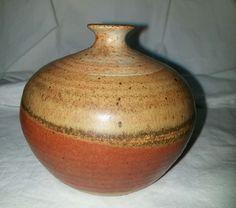 Pringle Pottery  Multi- Brown vase North Carolina  James Penland