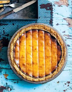 Baked ricotta, orange blossom and date pie recipe from The Pie Project by Kirsten Jenkins | Cooked