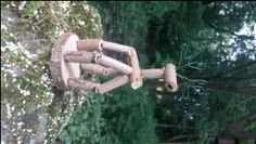 A fantastic pop up reindeer puppet made from elder (idea came from the fantastic Kindling Lilly)