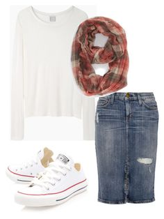 """""""Modest Style"""" by apostolicgirl85 ❤ liked on Polyvore featuring Base Range, Current/Elliott, BP. and Converse"""