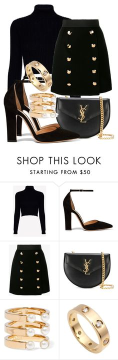 """Sem título #2072"" by mariandradde ❤ liked on Polyvore featuring Jack Wills, Gianvito Rossi, Dolce&Gabbana, Yves Saint Laurent, Chloé and Cartier"