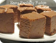 Easy Fantasy Fudge Recipe with step-by-step directions - no candy thermometer required!