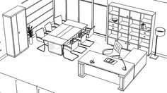 Office interior creation, wireframe - Stock Footage | by twistah