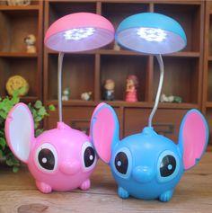 New Cartoon Lilo Stitch Charging Eyecare Reading Table Desk Lamp Led Light Gift Stitch Toy, Cute Stitch, Lilo Stitch, Lilo And Stitch Quotes, Stitch And Angel, Stitch Cartoon, Cute Room Decor, Table Desk, Desk Lamp