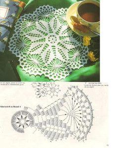 """""""SEGREDOS DA ARTE"""": Centro de mesa em croche com gráfico"""