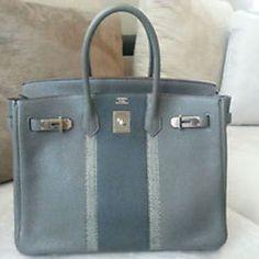 Authentic HERMES BIRKIN 35 Etain Clemence Club Womens Bag LIMITED EDITION  Spank Me 5b19db37672e2