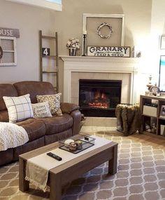 56 Rustic Farmhouse Living Room Decor Ideas