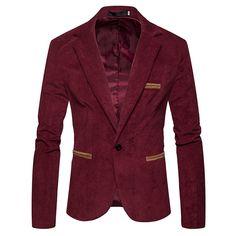 0a52602c01ea Pas cher Marque Élégant Hommes De Mode Blazers Velours Manteau Mince Costume  Formel Blazer Affaires Veste