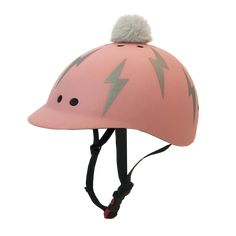 Kids Lightning Bolt: Pink | Sawako: The stylish helmets