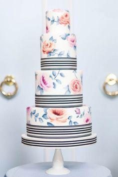 10 Vintage-Floral Wedding Cakes : Brides