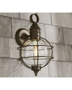 Fisherman sconce! Love this look