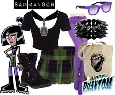 """Sam Manson - Danny Phantom"" saving this for halloween Casual Cosplay, Cosplay Outfits, Cosplay Costumes, Easy Cosplay, Diy Costumes, Cosplay Ideas, Costume Ideas, Cartoon Outfits, Disney Outfits"