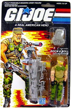 "GI Joe Hasbro 3 3/4"" Vintage Action Figure Rock & Roll [Version 2]"
