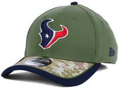 Houston Texans New Era NFL Salute to Service 39THIRTY Cap Hats Bulls On Parade, Nfl Salute To Service, Houston Texans, Caps Hats, Shopping, Texans Football, Hat