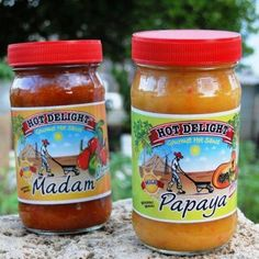 Hot Delight. Best hot sauce ever! Madam is super hot, Papaya will fool you as it starts off with a sweet taste and then it gives a kick. Nice combination complimenting each other. So good! Only available in Aruba.