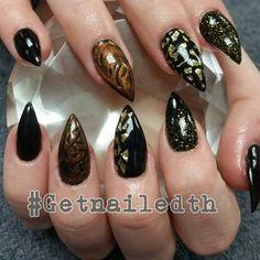 #Getnailedth #tammytaylorhardgel #tammytaylornails fall nail art