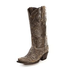 Lucchese Rustic Stud Cowgirl Boots