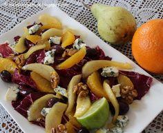 mein Land und Gartengenuss: Radicchio-Salat mit karamellisierten Birnenspalten