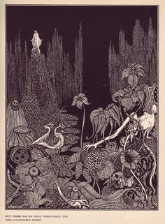 Harry Clarke - But There Was No Voice Throughout the Vast, Illimitable Desert, from illustrations for Edgar Allan Poe, 1922