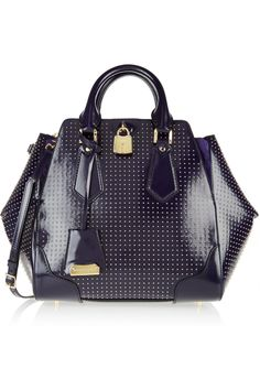 Burberry Prorsum   Ablett stud-embellished glossed-leather tote
