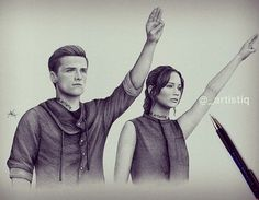 Hunger Games Fan Art / Catching Fire / Katniss / Peeta