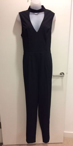 1a6fd9dcca2 BNWT Lipsy Black Chocker D Ring Belted Jumpsuit UK 16  fashion  clothing   shoes  accessories  womensclothing  jumpsuitsrompers (ebay link)