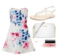 """""""Untitled #4"""" by emilyharwoodx on Polyvore featuring Lipsy, New Look, Michael Kors and MAC Cosmetics"""