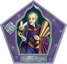 Bowman Wright--Metal Charmer 1492 - 1560 Mother was a witch, and father was a Muggle. He is famous for combining his loves of magic, science, and sports by creating the Golden Snitch, which greatly improved the game of Quidditch.