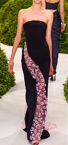 Christian Dior, 2013- I think the would look cool w/ a one shoulder out of the floral fabric...