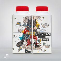 Vilkyškių kefir on Packaging of the World - Creative Package Design Gallery