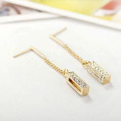 Rhinestone Bar Earrings #