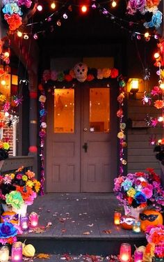 1000 images about day of the dead party ideas on for Decoration de porte halloween