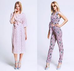 Tucker by Gaby Basora 2014 Spring Womens Lookbook in New York - Pseudo Denim Wide Leg Trousers Skirt Shorts Lounge Flowers Florals Roses Zig...