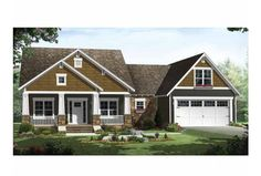 Eplans Craftsman House Plan - Craftsman Styling with Upscale Features - 1816 Square Feet and 3 Bedrooms from Eplans - House Plan Code HWEPL64725