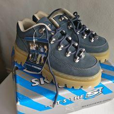 b0c9ea7ea9e9 Deadstock 90 s Skechers jammers in denim blue nubuck with 🔥 - Depop  Skechers