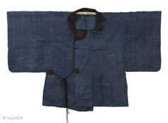 Traveler's cape made from indigo-dyed kudzo vine, Meiji period (1868).