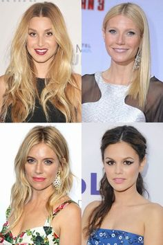 Hairstyles for center partings: Straight down the middle. Obsessed!